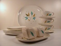 Mid Century Modern Sovereign Potters Vogue Dinnerware by OBJECTIK