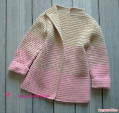 И я со своим хвостиком  Связала кардиган для старшей дочки и пальтишко для младшенькой, вязала крючком столбиком без накида, пряжа пехорка детский каприз, в 2 нитки. Crochet Jacket, Crochet Cardigan, Baby Blanket Crochet, Crochet Baby, Knit Crochet, Crochet Girls, Crochet For Kids, Baby Coat, Baby Knitting Patterns