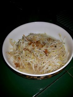 Bean sprout sautee. Asian cooking