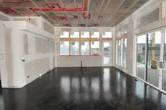 MODE CONCRETE: Black Acid Stained Modern Concrete Floor - created in the Okanagan