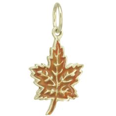This is an image of the sterling maple leaf charm.