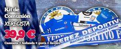 KIT DE COMUNIÓN XERECISTA. Están disponibles en la oficina del Xerez Deportivo FC: -Camiseta 15-16 -Bufanda -Gorra -Llavero Todo por sólo 39,9 euros