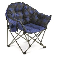 Guide Gear Oversized Club Camp Chair, Capacity - Chairs at Sportsman's Guide Folding Camping Chairs, Folding Chair, Portable Toilet, Fishing Supplies, Bedroom Furniture Sets, Bedroom Sets, Butterfly Chair, Club Chairs, Red Plaid