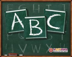 CHALKBOARD Alphabet 1x1 inch inch Digital Collage by KARTINKAshop, $3.50