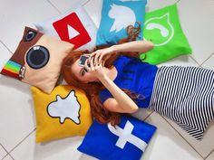 DIY - Capa para Almofada Sem Costura das Redes Sociais