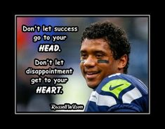Football Motivation, Motivation Wall, Football Gift, Football Players, Motivational Wall Art, Inspirational Quotes, Don't Let, Let It Be, Russell Wilson