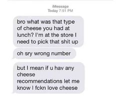 And cheese dreams: