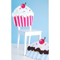 Pink Cupcake Chair Cover