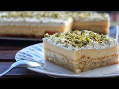Greek Desserts, Greek Recipes, Cookbook Recipes, Cooking Recipes, Vanilla Cake, Cheesecake, Sweets, Cookies, Food