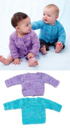 Free Knitting Pattern for Baby Cardigans ⋆ Knitting Bee Baby Cardigan Knitting Pattern Free, Beginner Knitting Patterns, Baby Sweater Patterns, Knitted Baby Cardigan, Knitting For Kids, Baby Patterns, Free Knitting, Cardigan Pattern, Baby Coat