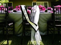 Virginia of Brooke Keegan Weddings and Events sent in this STUNNING Lavender & Black Bridal Shower, and from the pretty color palette and lacy party fa