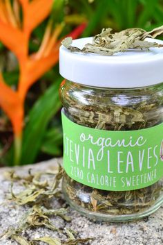 Organic Stevia Leaves in a JAR 20g  Zero by LannaCafeOrganics