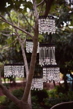 ❥ garden chandeliers, prisms, crystals