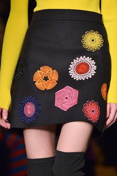 The MSGM skirts were all about the floral appliqué details for Fall 2015
