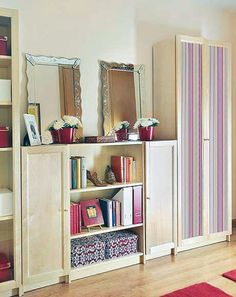 Decorating with mirrors.