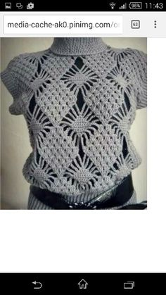 Crochet Top Patterns crochet jumper pattern pdf chart diagrams - JUST FOR EXPERIENCES CROCHETERS. A diagram of patterns, no detailed description ! just CHART diagrams! PDF Pattern will be sent to e-mail in 12 hour of payment. T-shirt Au Crochet, Pull Crochet, Gilet Crochet, Mode Crochet, Crochet Diagram, Crochet Woman, Crochet Crafts, Crochet Stitches, Crochet Tops