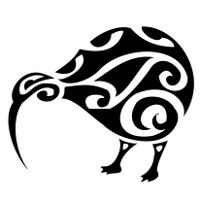 Tribal kiwi design. I'd like to figure out how to use the Dremel tool and etch this into one of my NZ rocks