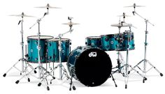 Drum Workshop Collector's Series Custom Graphics - Blue Anodize Stainless Steel with Black Nickel Hardware