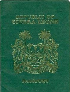 Sierra Leone Passport Online, World Thinking Day, The Settlers, Marriage Certificate, Passport Cover, Ielts, Sierra Leone, West Africa, Country