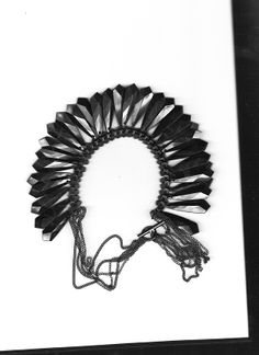 Black cable ties and plastic beads #contemporary #jewelry