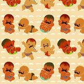 Little Men - I need this in a blanket and a boppy cover.