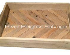 Herringbone Pattern,Rustic Wooden Tray, Ottoman Tray, Serving Tray, Tray, Rustic Tray, Decorative Tray,