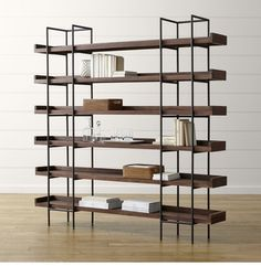 Shop Crate and Barrel Canada for high-quality, on-trend display and storage cabinets. Choose fast, free store pickup, or enjoy convenient home delivery. Bookcase Shelves, Wood Shelves, Glass Shelves, Display Shelves, Ladder Bookshelf, Bookcases, Large Bookcase, Modern Bookcase, Shelving Units
