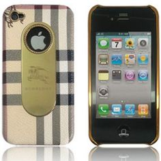 Burberry Deluxe Hard Back Cover Case for iPhone 4s / 4 - Beige