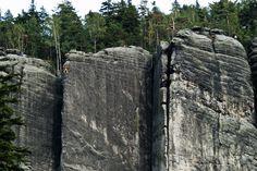 Can you spot the climber? Adršpach Rock Town, Czech Republic