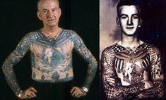"""É muito comum para os tatuados ouvir os outros perguntando o que farão quando envelhecerem e estiverem cheios de tatuagens. As imagens a seguir mostram que a resposta é simples: """"Serei um velho tatuado""""."""