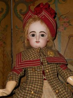 French Bisque Bebe by Gaultier in Superb Costume