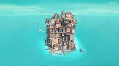 Sea Castle by Jan Joost Verhoef, via Behance