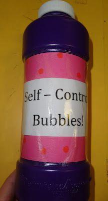 Teach self control using bubbles