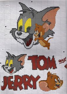 Gráficos ponto cruz da drica: Tom e Jerry