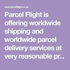 Parcel Flight is offering worldwide shipping and worldwide parcel delivery services at very reasonable prices. We are a renowned firm engaged in offering superior quality courier & shipping services. Parcel Delivery, Muffins, Brunch, Tasty Dishes, Dinner, Recipes, Superior Quality, Puerto Rico, Pasta Soup
