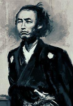 Sakamoto Ryoma, Samurai, a leader to overthrow Tokugawa shogunate, thus a preparer of Meiji Restoration Japanese History, Japanese Art, Geisha, The Last Samurai, Japanese Warrior, Samurai Armor, Free Mind, Historical Pictures, Portrait Art
