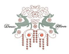 santa and sleigh iron on embroidery pattern - Google Search