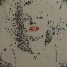 Marilyn Crowd Art #MarilynMonroe #Art #Urbanism