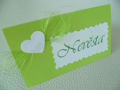 Place Cards, Place Card Holders, Wedding, Valentines Day Weddings, Weddings, Marriage, Chartreuse Wedding