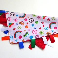 Rainbow Tag Blanket by Sewingdreamsnotions,