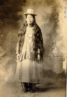 Penobscot woman in characteristic attire of historic ... | APS Digital Library