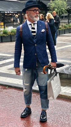 Older Mens Fashion, Best Mens Fashion, Denim Fashion, Fashion Outfits, Sharp Dressed Man, Well Dressed Men, Stylish Men, Men Casual, Bohemian Style Men