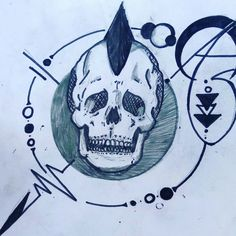 Skinhead minimal tattoo