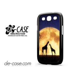 Giraffes Romantic Moon DEAL-4673 Samsung Phonecase Cover For Samsung Galaxy S3 / S3 Mini