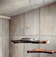 Roost Redwood Burl Hanging Shelf