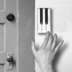 Piano doorbell- I MUST HAVE