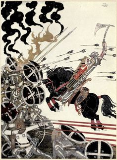 """From """"East of the Sun and West of the Moon: Old Tales from the North"""" by Peter Christen Asbjørnsen and Jørgen Engebretsen Moe. Illustrated by Kay Nielsen. Source: http://www.gutenberg.org/files/30973/30973-h/30973-h.htm"""