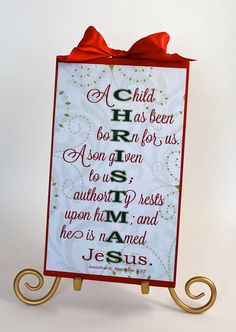 Christmas Sign Decoration Bible Verse Meaning by SignsoftheSeason