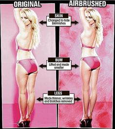 "I love that Britney Spears released her before and after photoshop photos to help women with body image. Society's ""ideal"" body is rarely real."