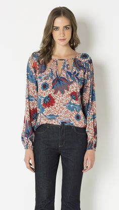 BLUSA AMPLA VISCOSE - Shoulder